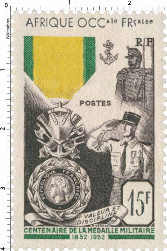 Afrique Occidentale Française - Centenaire de la médaille militaire française