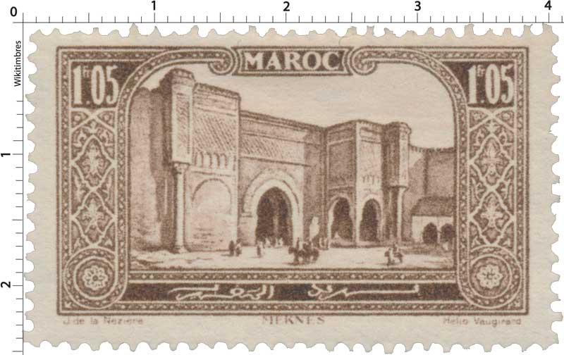 1923 Maroc - Porte Bab-el-Mansour - Mecknès
