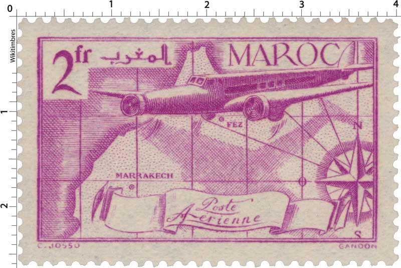 1939 Maroc - Carte et avion