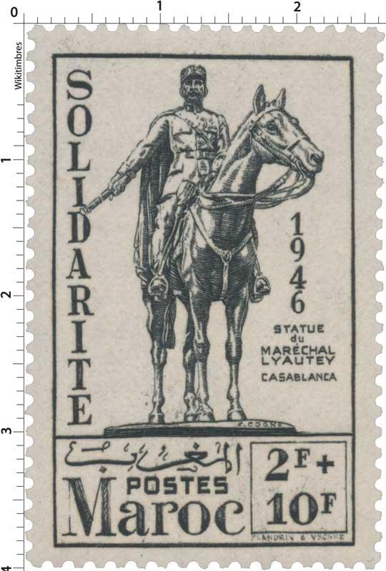 1946 Maroc - Statue équestre de Lyautey - Casablanca