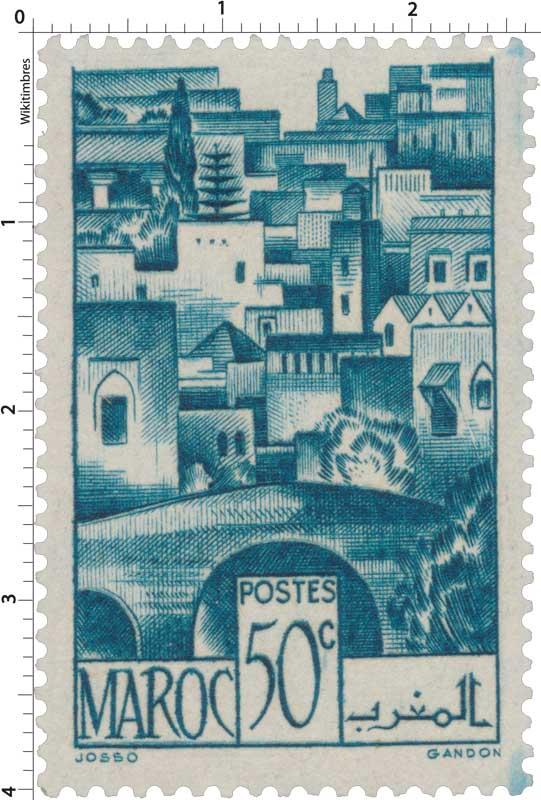 1947 Maroc - Pont de Bein el Mdoum et les moulins de Fès