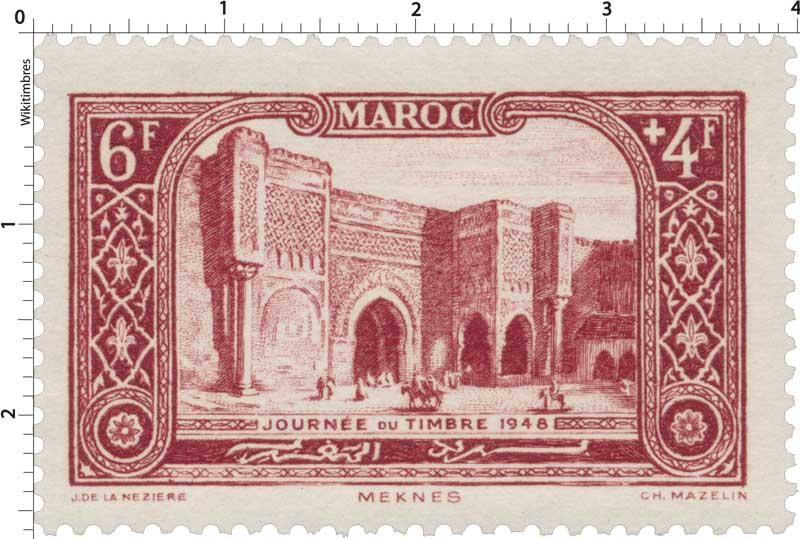 1948 Maroc - Porte Bab-el-Mansour - Mecknès