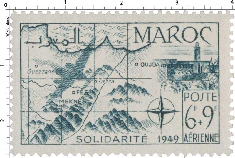 1950 Maroc - Au profit des Oeuvres de solidarité