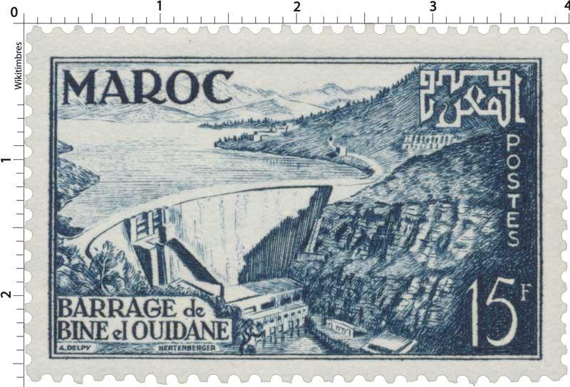 1953 Maroc - Inauguration du barrage de Bine El Ouidane