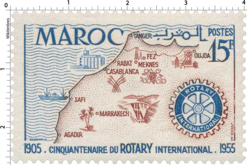 1955 Maroc - Cinquantenaire du Rotary International