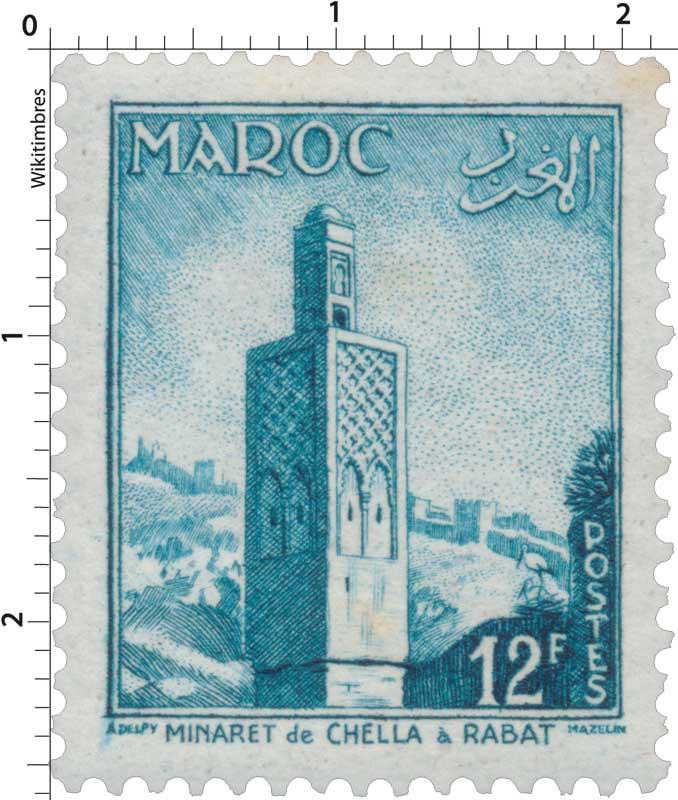 1955 Maroc - Minaret de Chella à Rabat