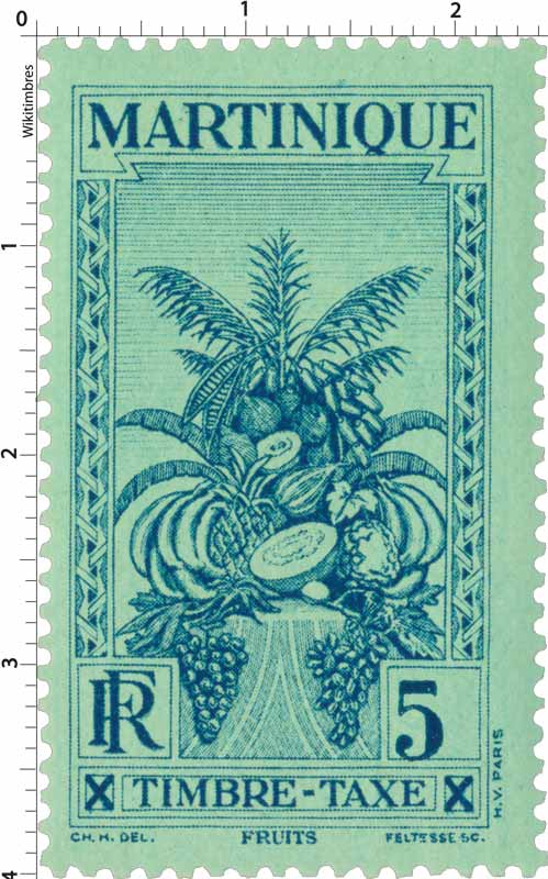 MARTINIQUE  Timbre Taxe Fruits