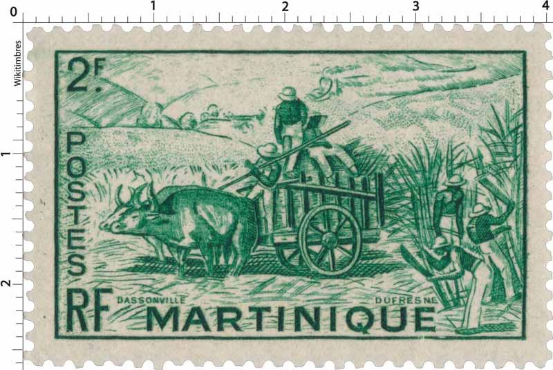 Martinique - Récolte de la canne à sucre