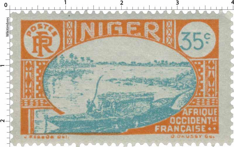 Niger - Embarcation indigène sur le Niger