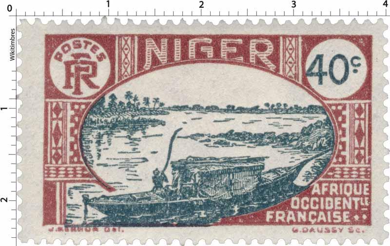 Niger - type ermbarcation indigène sur le Niger