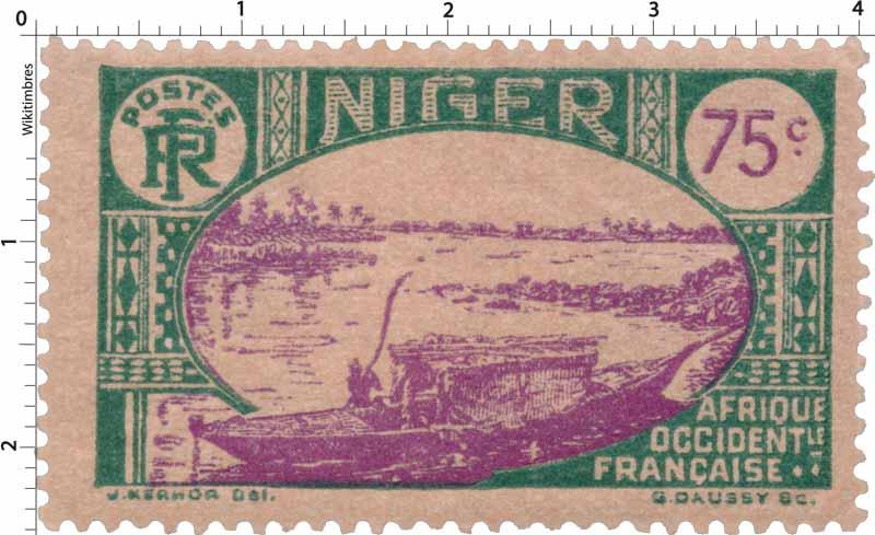 Niger - type embarcation indigène sur le Niger