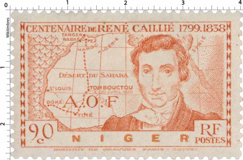 AOF Niger centenaire de René Caillié 1799 - 1838