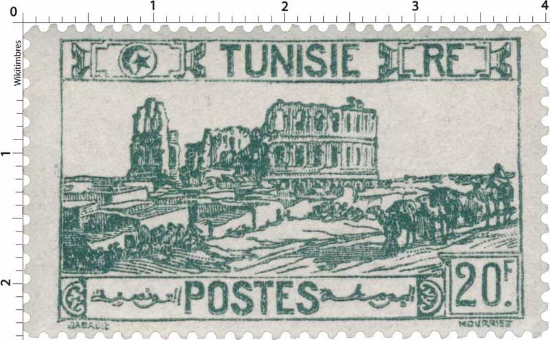 Tunisie - type amphithéâtre d'El Djem