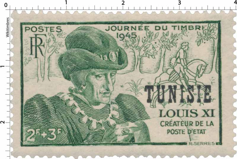 Tunisie - Journée du timbre. Louis XI