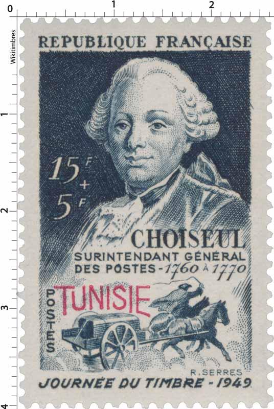 Tunisie - Journée du timbre. Choiseul
