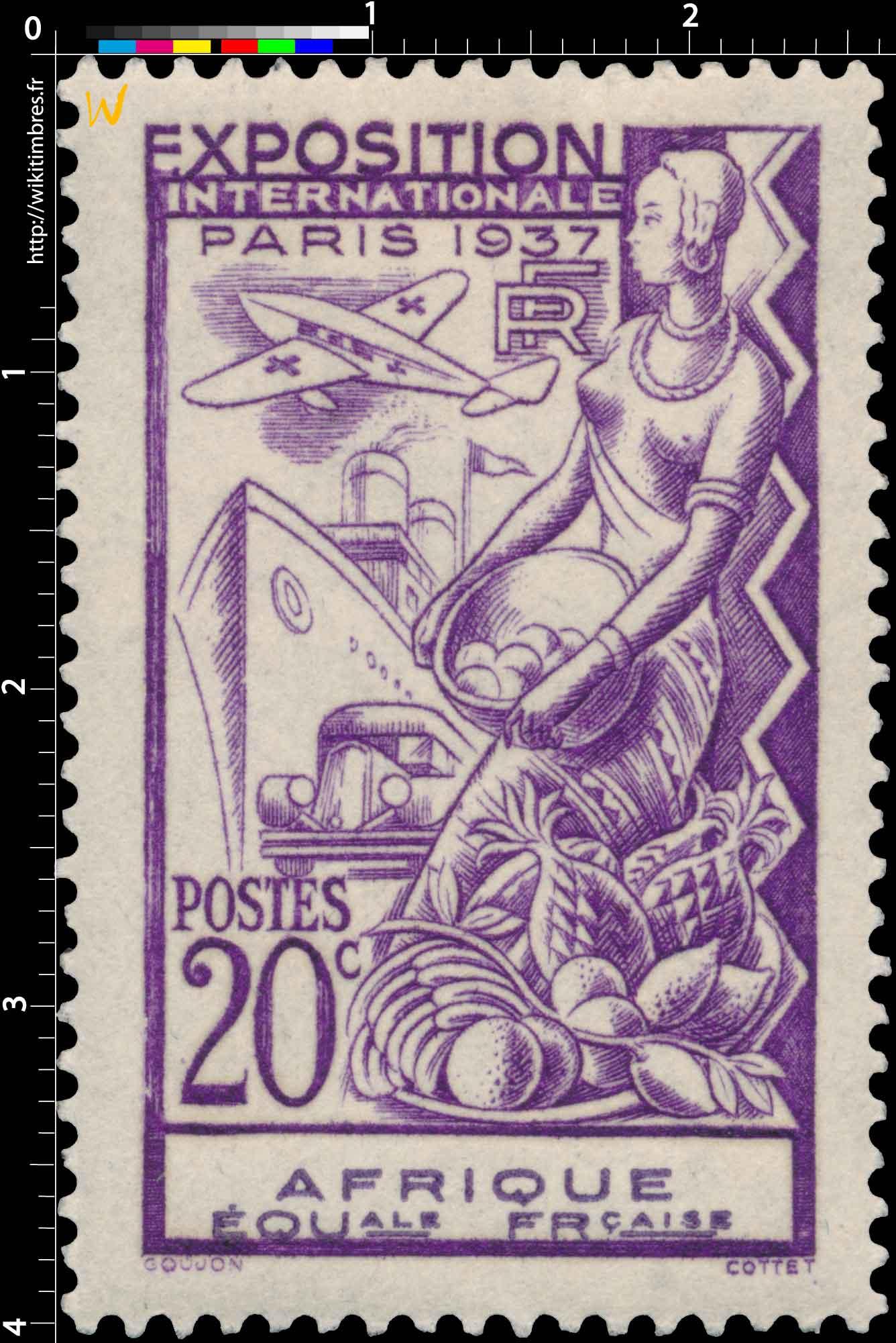1937 Exposition internationale Paris AFRIQUE EQUale FRçaise