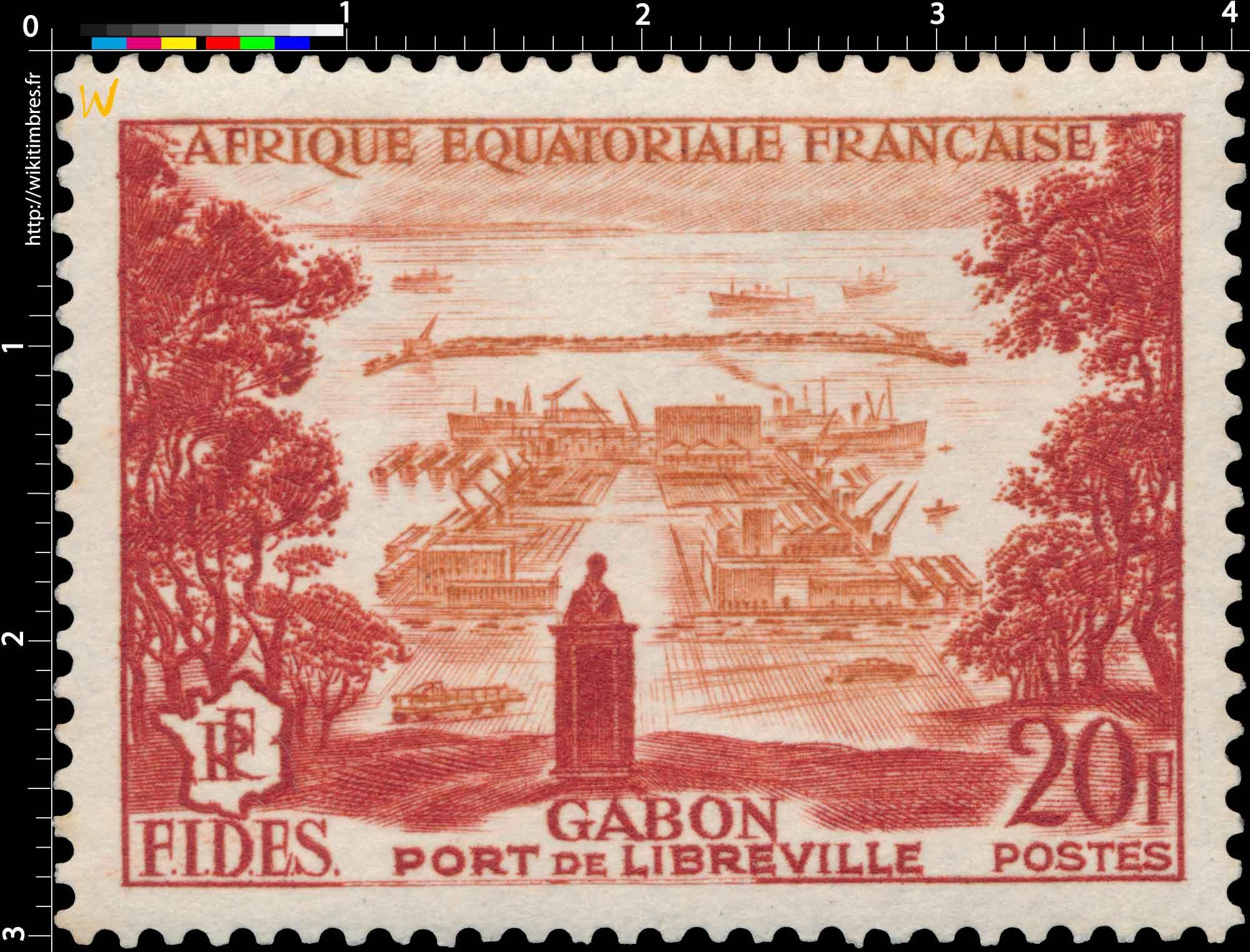 Gabon Port de Libreville Afrique Équatoriale Française F.I.D.E.S