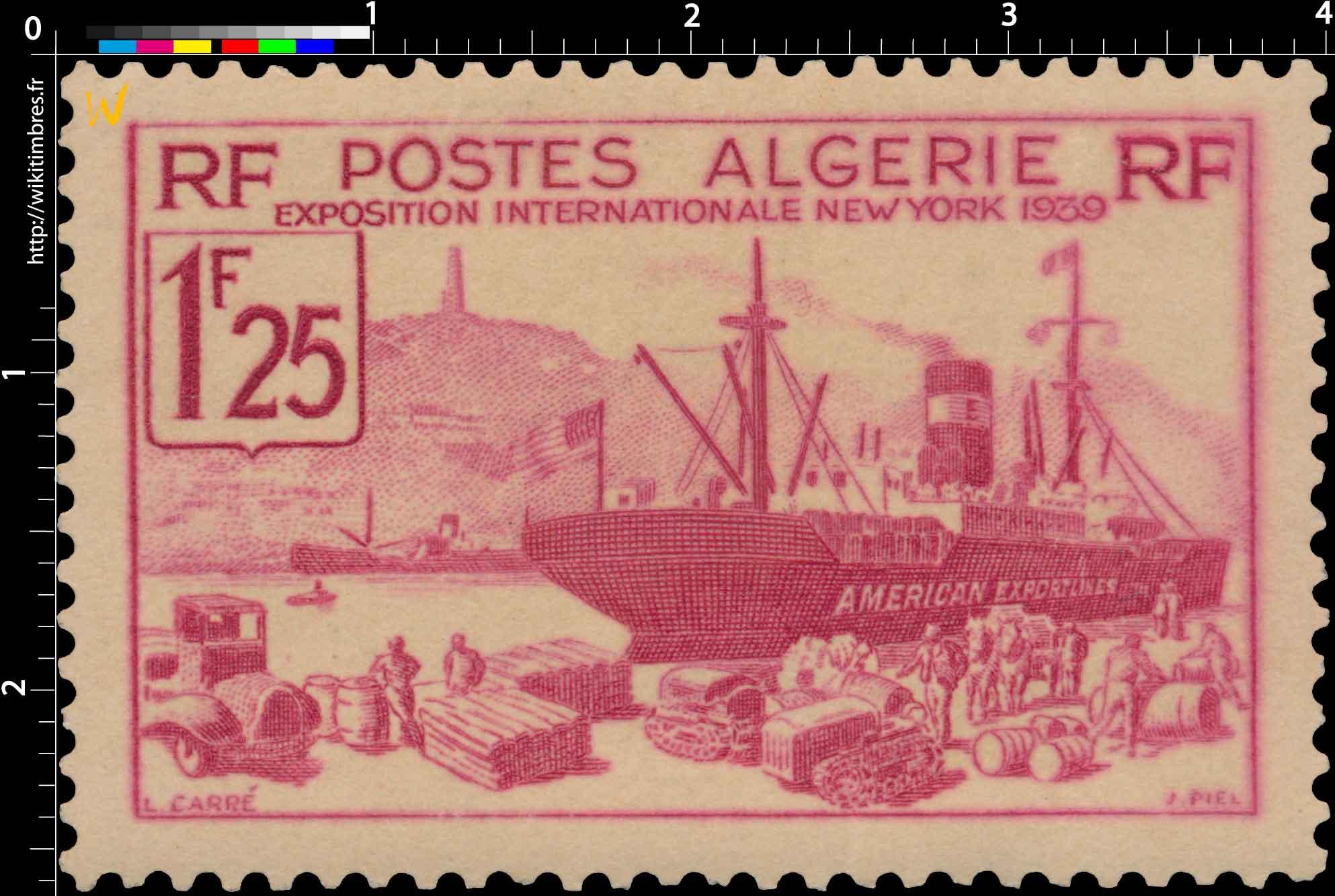 Algérie - Exposition internationale de New-York