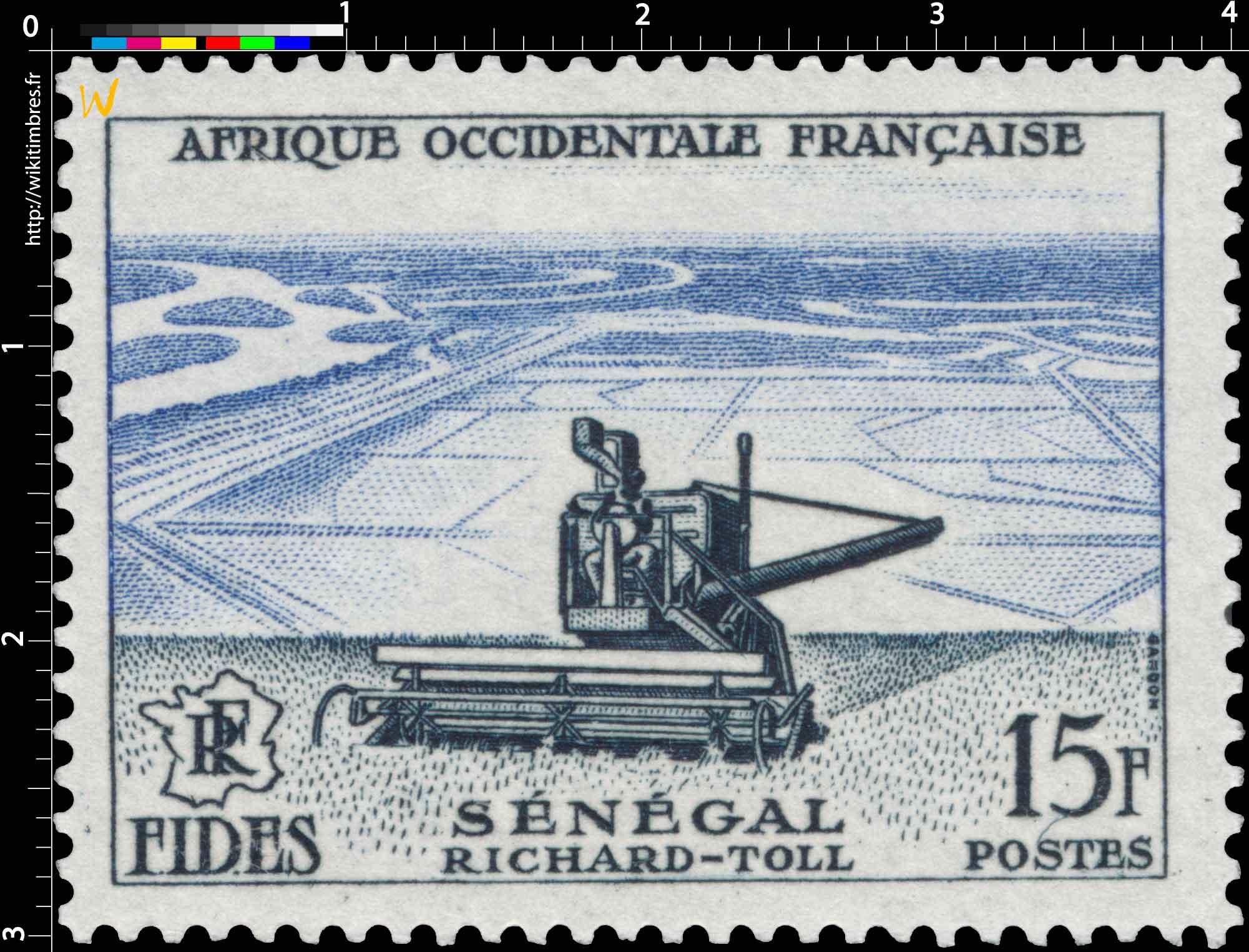 Afrique Occidentale Française - F.I.D.E.S. - Richard-Toll Sénégal