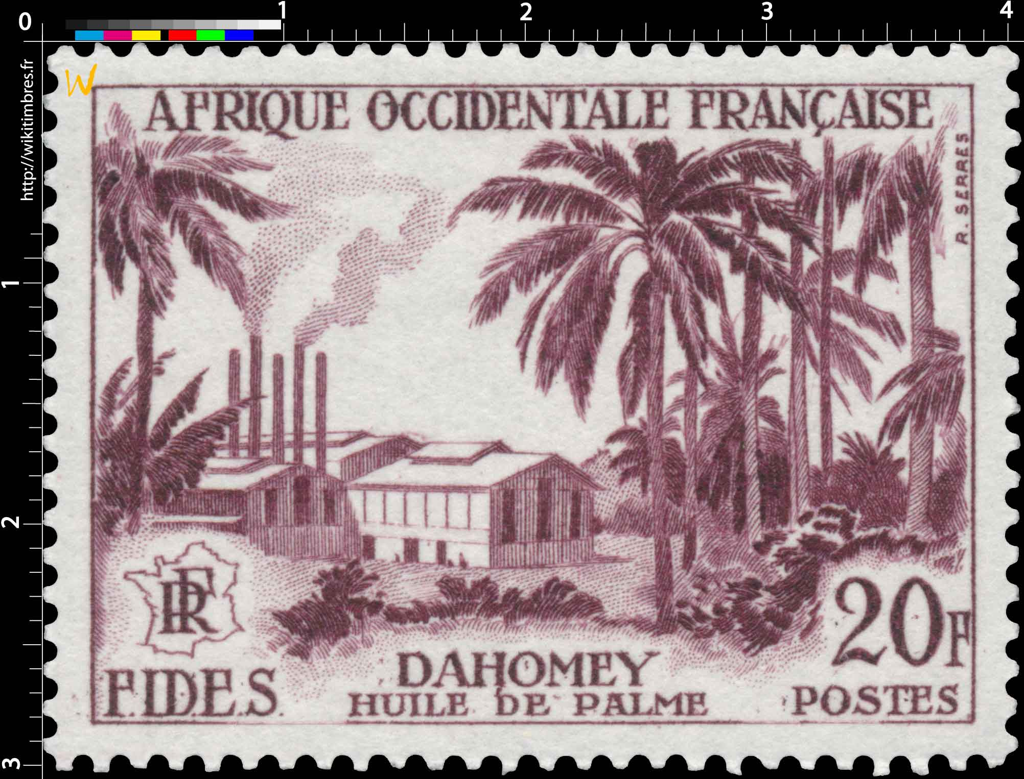 Afrique Occidentale Française - F.I.D.E.S. - huile de palme Dahomey