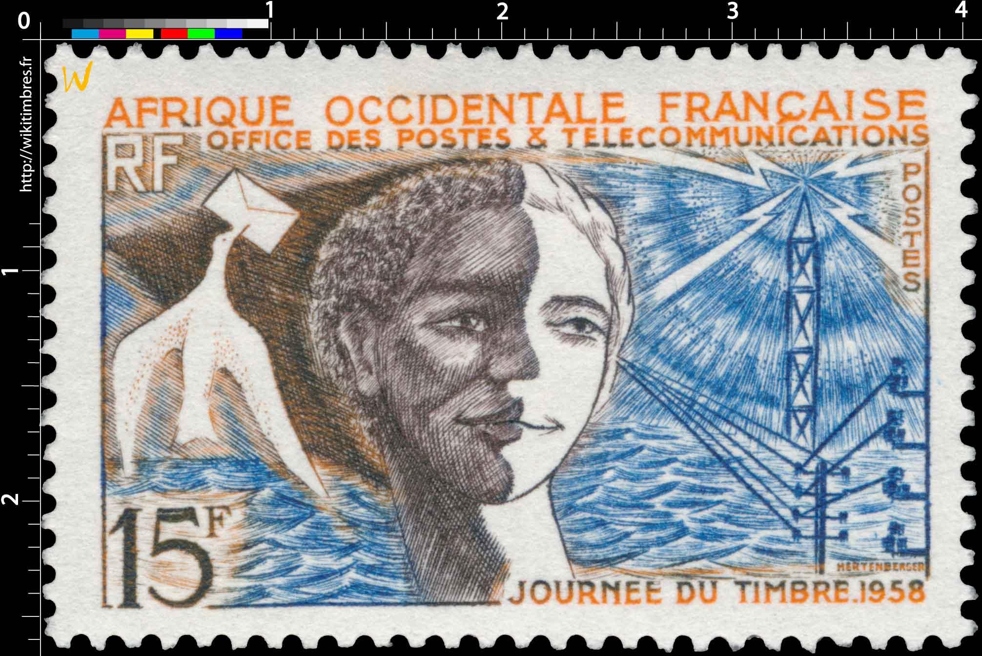 Afrique Occidentale Française - Journée du timbre 1958