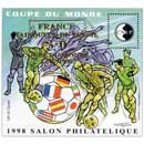 1998 Coupe du monde France vainqueur du Brésil 3-0 Salon philatélique de Lyon CNEP
