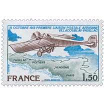 1978 15 OCTOBRE 1913 PREMIÈRE LIAISON POSTALE AÉRIENNE VILLACOUBLAY-PAUILLAC