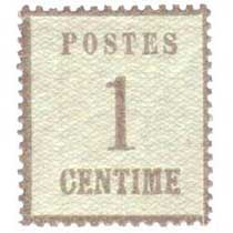 Postes 1 centime