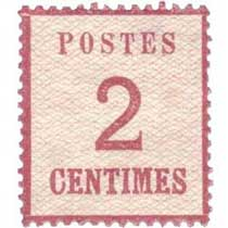 Postes 2 centimes