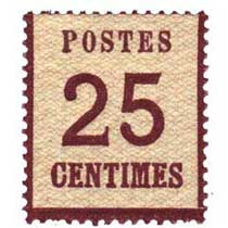 Postes 25 centimes