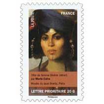 tête de femme Biskra (détail) par Marie Caire, musée du quai Branly, Paris