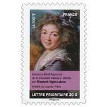 Madame Molé-Raymond de la Comédie italienne (détail) par Élisabeth Vigée-Lebrun, musée du Louvre, Paris