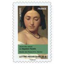 jeune fille (détail) par Hippolyte Flandrin, musée des Beaux-arts, Nantes