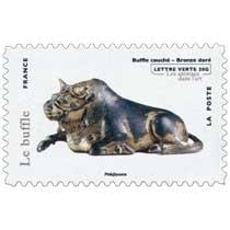 Le Buffle - Buffle couché - Bronze doré - Les animaux dans l'art