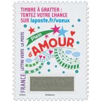 2016 Le Timbre à gratter : tentez votre chance sur laposte.fr/voeux . Plein d'AMOUR