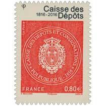 2016 Caisse des Dépôts 1816 - 2016