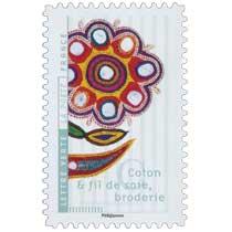 2017 Coton et fil de soie, broderie