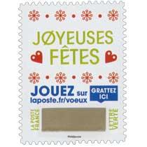 2018 Joyeuses fêtes - Jouer sur laposte.fr/voeux - Gratter ici