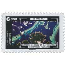 2018  ESA - 16 Mars 2017 - Barrière de corail et île volcanique en Polynésie francaise