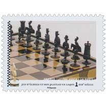 2021 Jeu d'échecs et son plateau en laque XIXe siècle