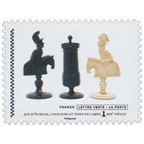 2021 Jeu d'échecs, cavaliers et tour en laque XIXe siècle