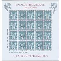 2016 70e Salon Philatélique d'Automne 140 ans du type Sage 1876