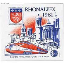 1981 rhonalpex Salon philatélique de Lyon CNEP