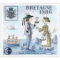 1986 Bretagne Salon philatélique de Rennes CNEP