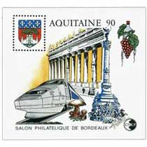 90 Aquitaine Salon philatélique de Bordeaux CNEP