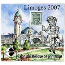 2007 Salon philatélique de printemps Limoges CNEP