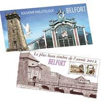 Souvenir Plus beau timbre 2012 TERRITOIRE DE BELFORT aux défenseurs de Belfort 1870-1871
