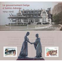 2015 Souvenir philatélique - le gouvernement belge à Sainte-Adresse