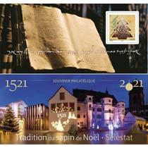 2021 souvenir philatélique -  Tradition du sapin de Noël – Sélestat