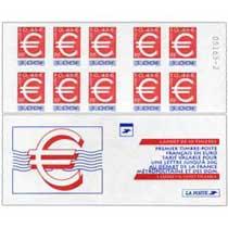 le premier timbre français en euro